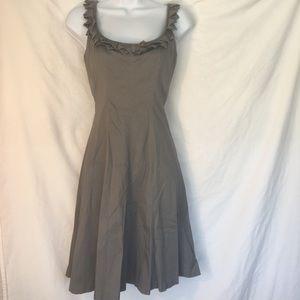 Nine West gray sleeveless skater style dress
